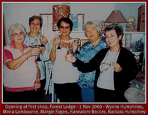 Celebrating opening of 1st Hospice shoppe
