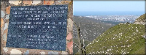 Commemoration plaque & view of George
