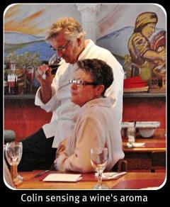 Chef Colin wine tasting