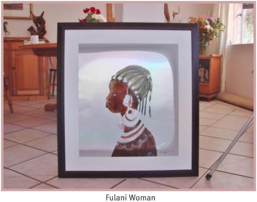 Fulani Woman painting