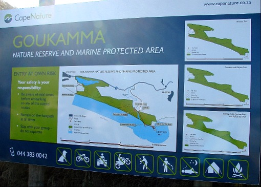 Goukamma Reserve map