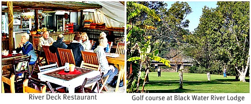 Restaurant and Golf course