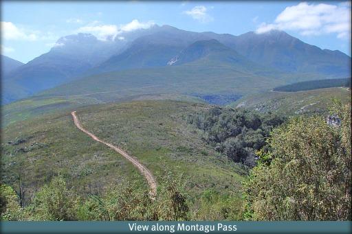 View along Montangu Pass