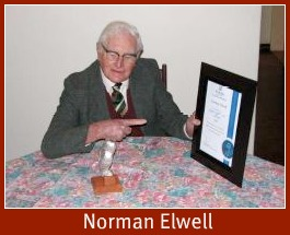 Norman Elwell with his OWL Award 201