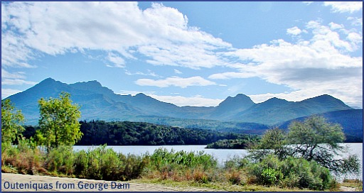 View of the Outeniqua Mts from George Dam