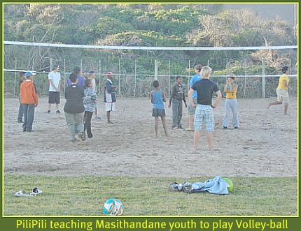 learning beach volley bal