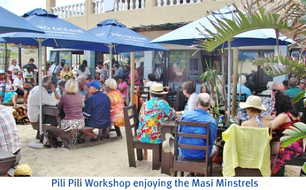 Crowd enjoying the Masi minstrels