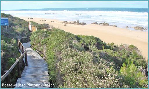 Boardwalk down to Platban