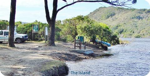 Corner of President Steyn and Charles te Water streets on the Island, Sedgefield