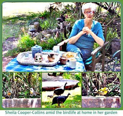 Sheila in her garden