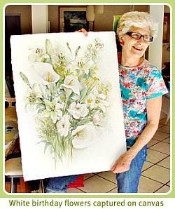 Sheila's birthday flowers