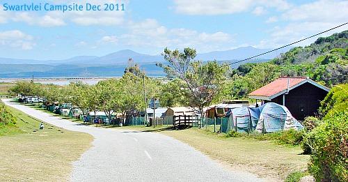 Swartvlei campsite in seaso