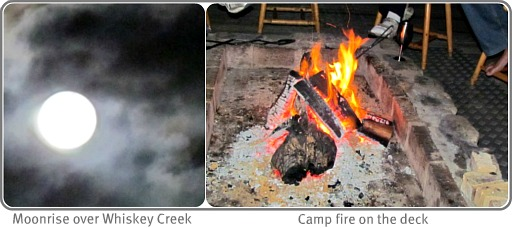 Whiskey Creek campfire scenes