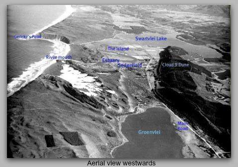 Aerial view westward