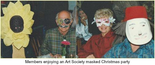 Art Society masked Xmas party