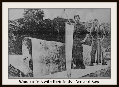 woodcutters' tools of their trad
