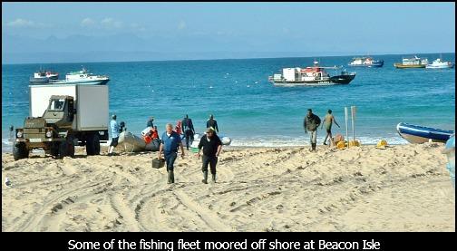 Hake fishing fleet off Beacon Isle