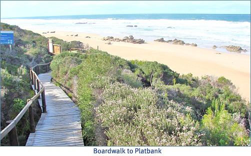 boardwalk to Platbank beach