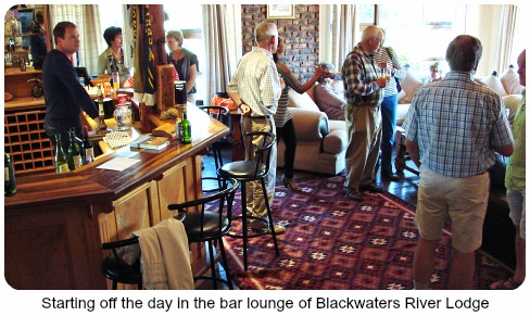 Bar lounge at Blackwater River Lodge