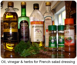 ingredients for French salad dressin