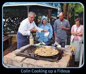 Chef Colin making Spanish Fideua