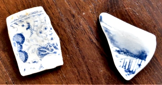 Old Blue and white pottery