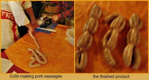 Colin's Pork sausage