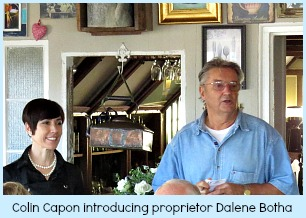 Proprietor Dalene Botha with Colin Capon