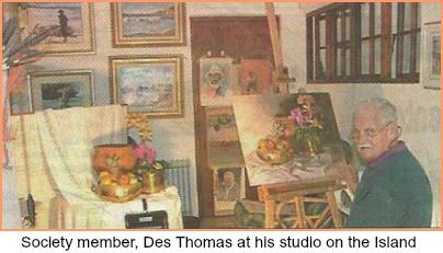 Des Thomas in his studio