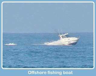 Off-shore fishing boat near Goukamma Marine Protected Area