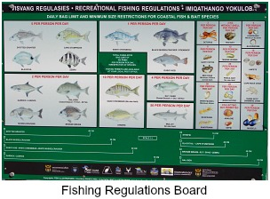 fishing code of conduct sign