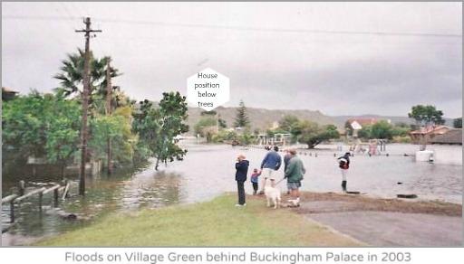 2003 floods cover Village green