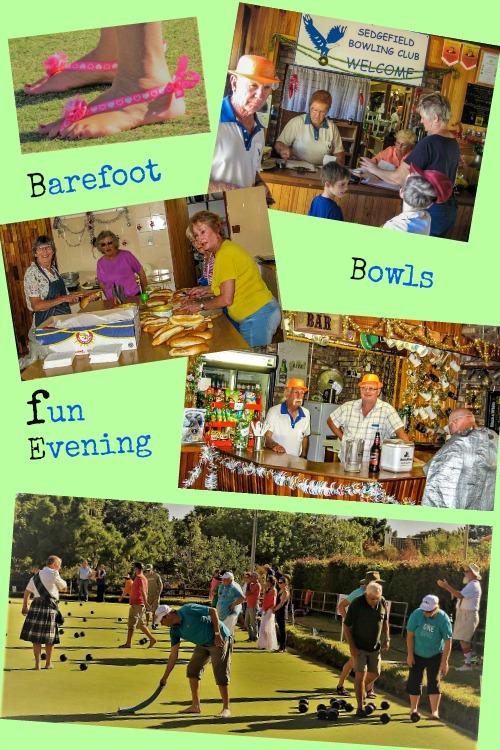 Bare Foot Bowls Fun Evening