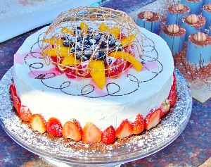 Cake demonstrated by international celebrity chef, Colin Capon for the easter Slow Festival.