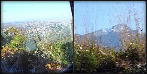 a distant George & George Peak