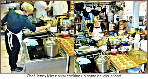 Jenny Kilzer in the kitchen