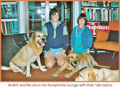 massardo kids with Humphries labradors
