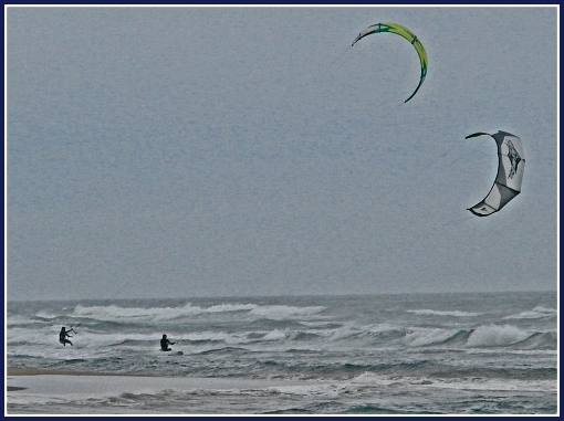 Kite Surfing at Myoli Beach