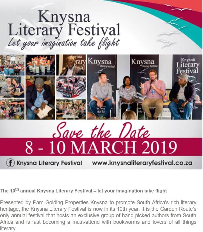 March 2019 Knysna Literary Festival