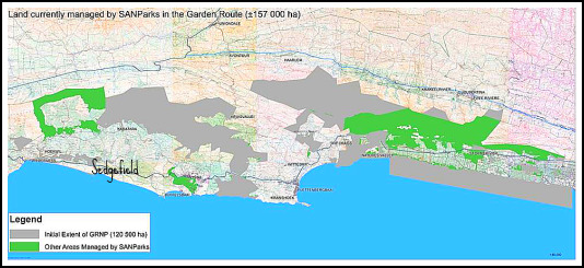 Map of the Garden Route National Park
