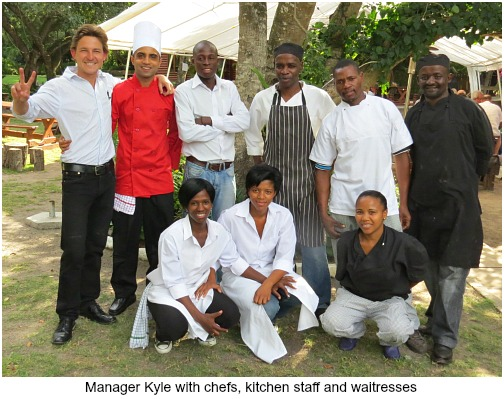 Manager Kyle and Kitchen staff
