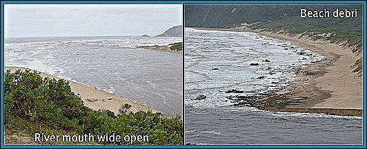 River mouth after opening