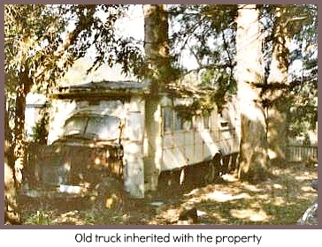 Abandoned truck on property