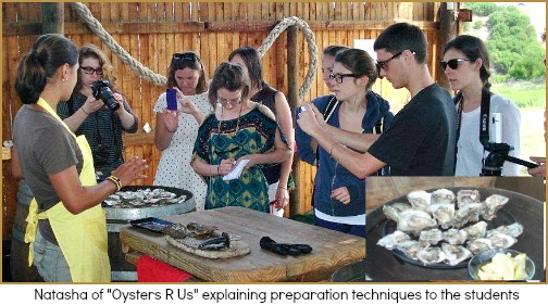 Students with Natasha from Oysters R Us