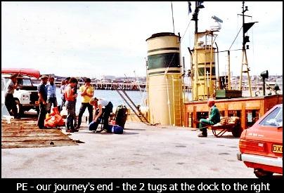 The  crew in PE harbour