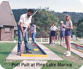 putt putt at Pine Lake Marin