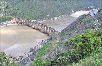 Train bridge over Kaaimans River