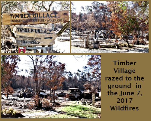 Timber Village ruins after the June 2017 fires