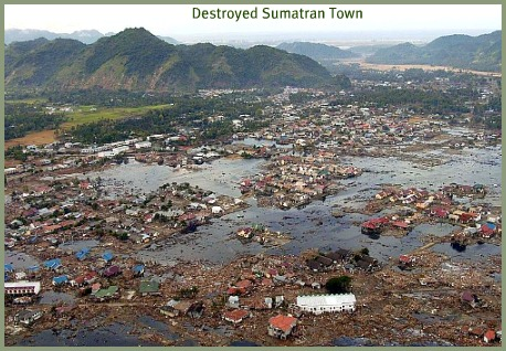 Sumatran island in ruins