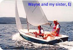 sailing on the Swartvlei Lak